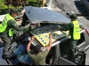 They seized 50 panelas of cocaine in the GNB's checking point