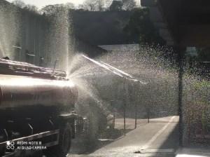 Bomberos piden desalojar las calles durante desinfecciones en Zamora
