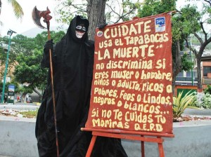 Street theater brings awareness about the covid in La Guaira