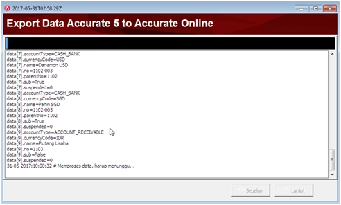 Proses Migrasi Database Accurate 5 ke Accurate Online