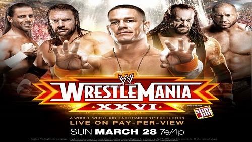 WWE Wrestlemania XXVI (26) Coffret 2 DVD en VF