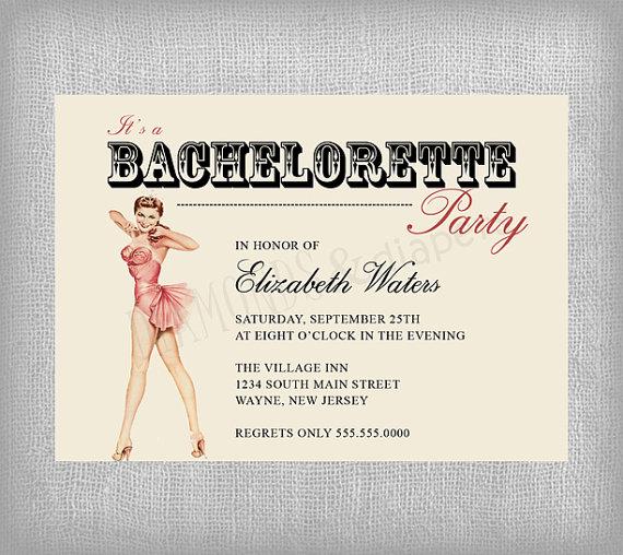 Invitations Ultimate Bridesmaid – Vintage Bachelorette Party Invitations
