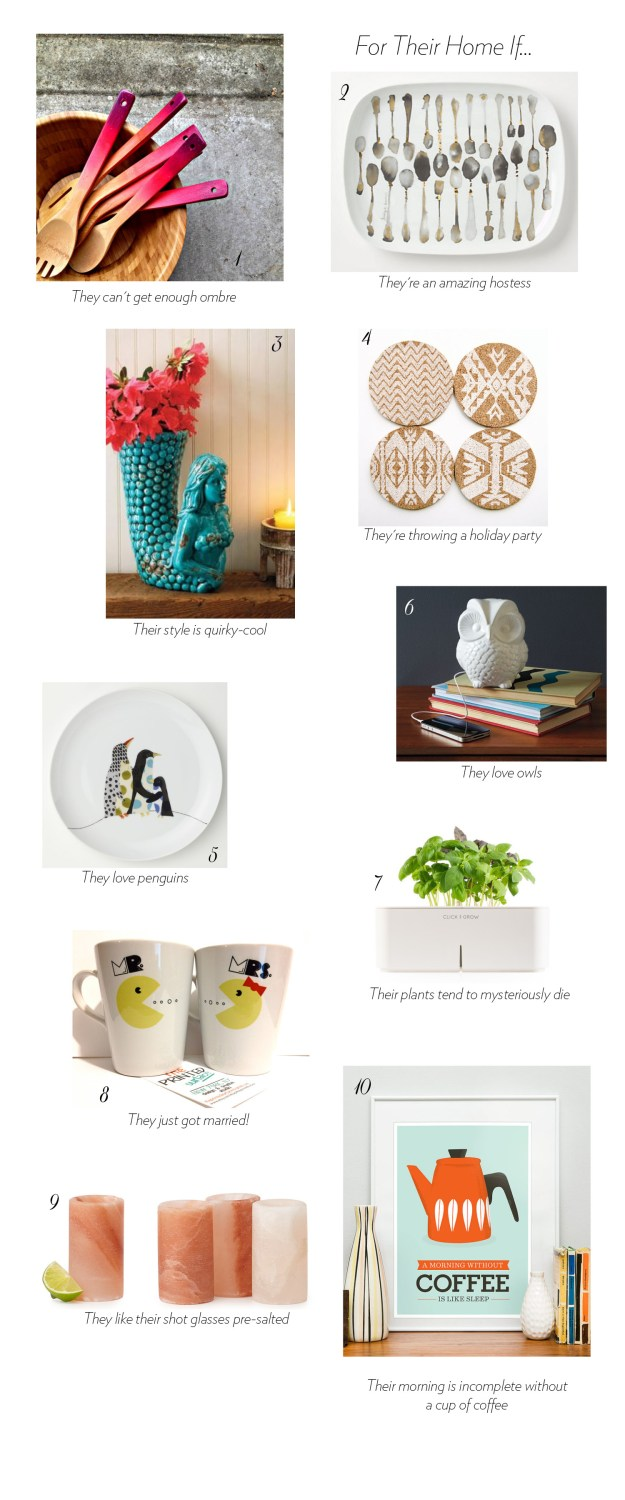 Gift guide quirky cool finds for the home ultimate for Funky household gifts
