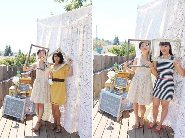 adorable bridal shower photobooth ideas