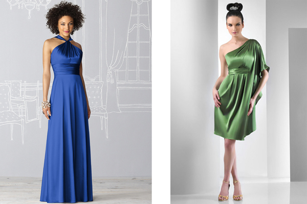 charmeuse dessy and bari jay bridesmaid dresses