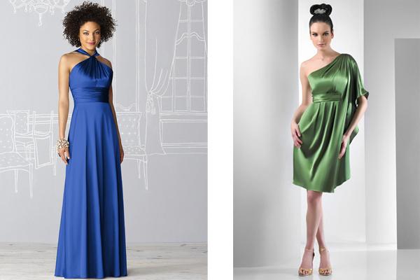 charmeuse dessy and bari jay bridesmaid dresses