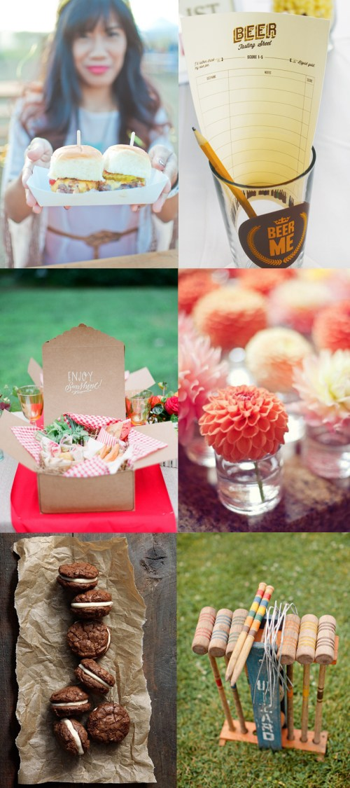 coral picnic shower