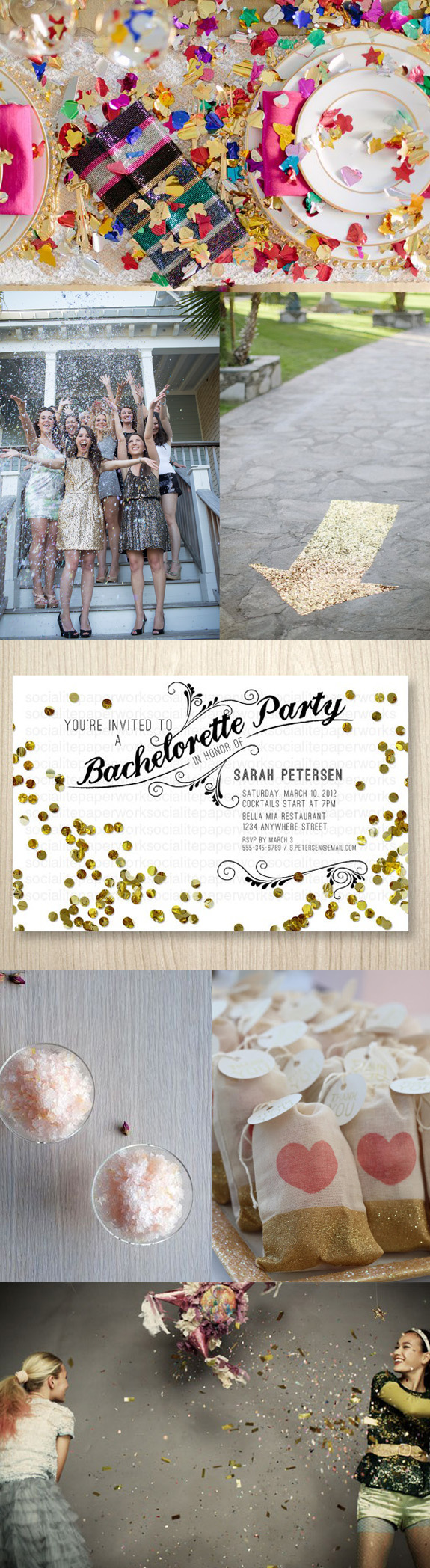Glitter inspiration board | Ultimate Bridesmaid