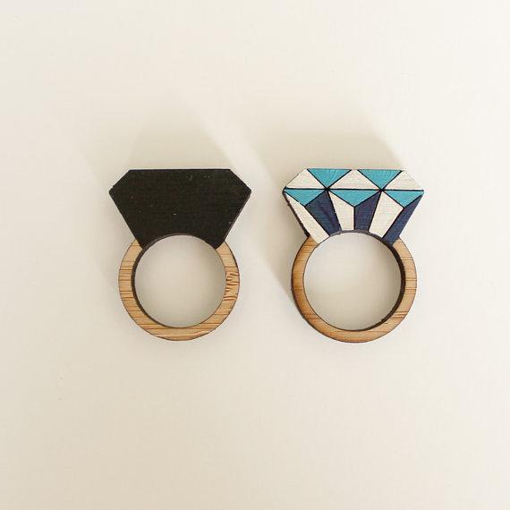 diamond bamboo rings   Etsy Bridesmaid Gifts Under $30   Ultimate Bridesmaid