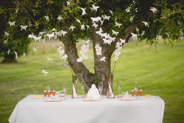 A White and Peach Zen Bridal Shower | Ultimate Bridesmaid | JKB Young Photography