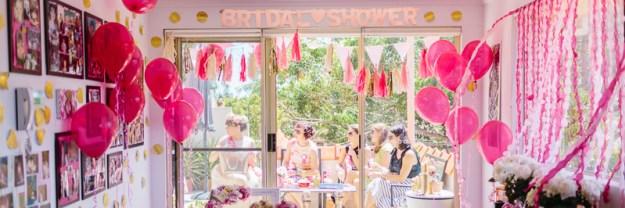 a glittering high tea shower