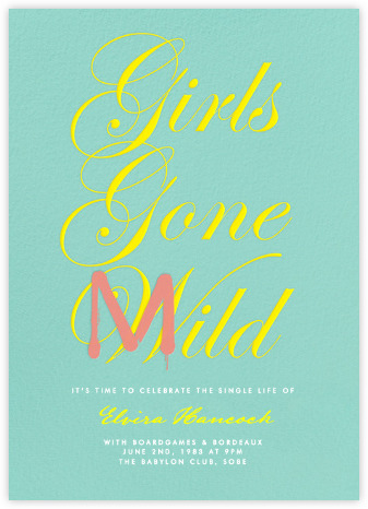 Girls Gone Mild Bachelorette Invite from Paperless Post