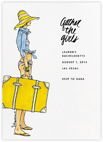 Gather the Girls bachelorette invite from J.Crew and Paperless Post