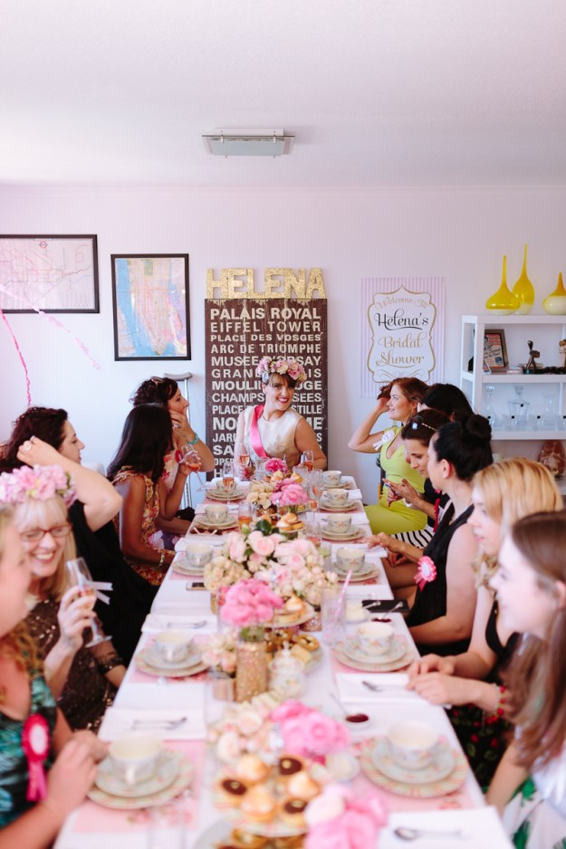 A Glittering Pink High Tea Shower |Ultimate Bridesmaid | Ducky Jessica Photography