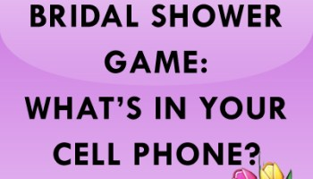 bridal shower bachelorette game whats in your cell