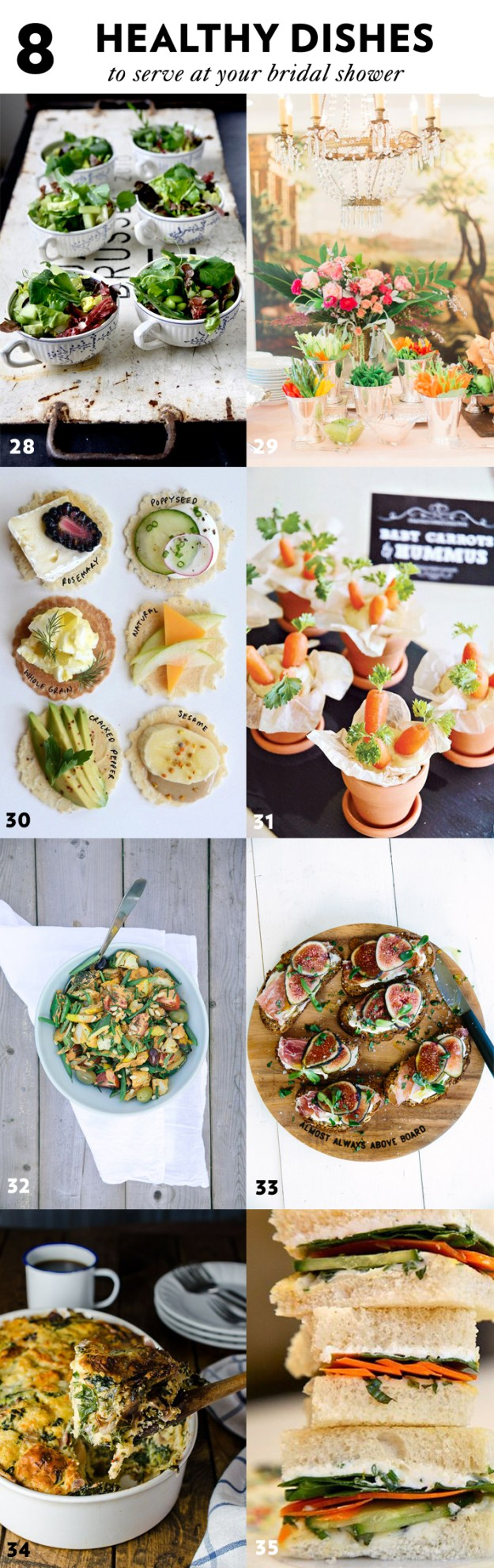 8 Healthy Dishes to Serve at Your Bridal Shower