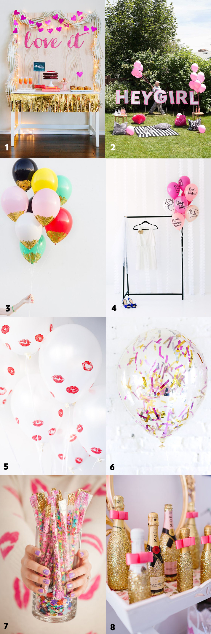 50 simple and stylish diy bridal shower bachelorette for Bachelor party decoration ideas
