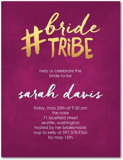bride tribe bachelorette invitation : perfect invite for a bachelorette party