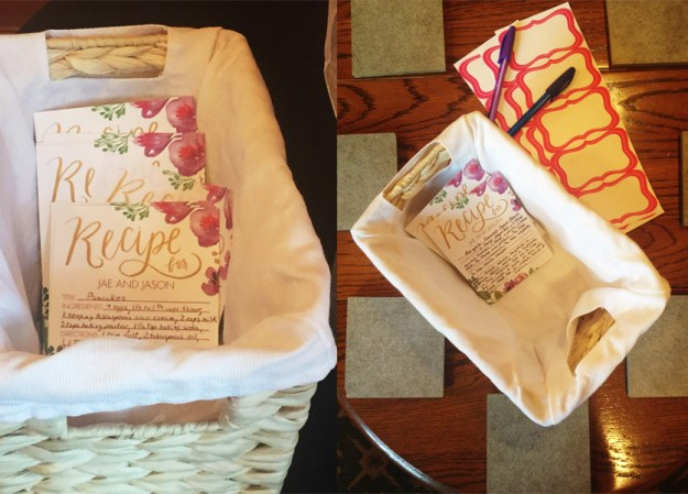 A Tea Party Bridal Shower in North Carolina at the O.Henry Hotel   Ultimate Bridesmaid   Personalized recipe cards