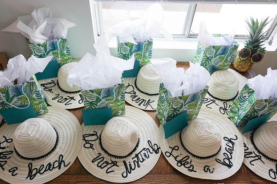 ... Audrey DIY Beach Hats. A Tropical Beach Bachelorette Party  4af1918a7d8d