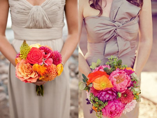 How to create a timeless bridesmaid look but still show your personality? Say it with flowers!