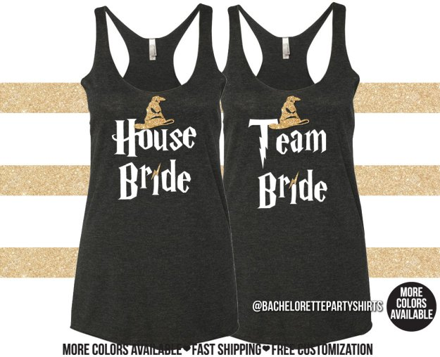 House Bride Harry Potter bachelorette party tanks