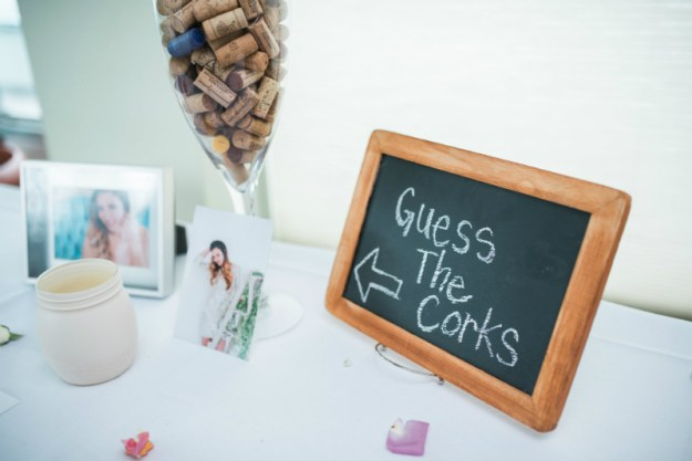 Guess the Corks bridal shower game. A Sweet Garden Bridal Shower | Ultimate Bridesmaid | Kathryn Hyslop Photography