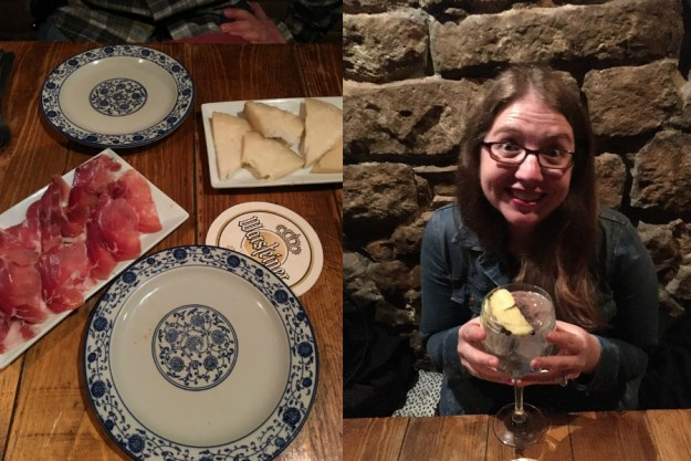 Tapas at La Alcoba Azul in the Gothic Quarter in Barcelona. We started our 10-day honeymoon in Spain with three days in Barcelona. Click for our full itinerary and recommendations!