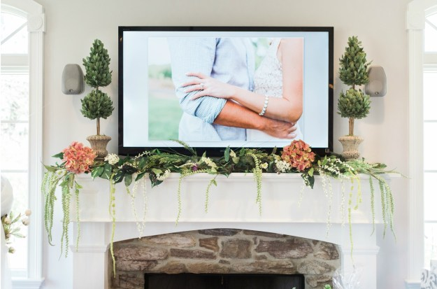 The highlight of this shower was a hilarious video created by the bride's fiance! A Gold and Blush Bridal Shower | Ultimate Bridesmaid | Anne Molnar Photography