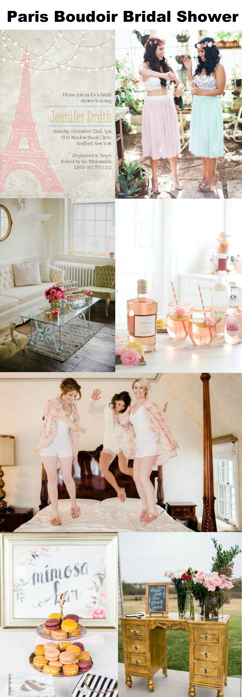 aeffec868e8d Does the bride love Paris  Plan her a Parisian boudoir bridal shower with  these ideas
