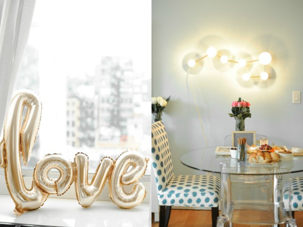 Gold LOVE balloon. A Rooftop New York City Bridal Shower | Ultimate Bridesmaid | Jessica Frey Photography