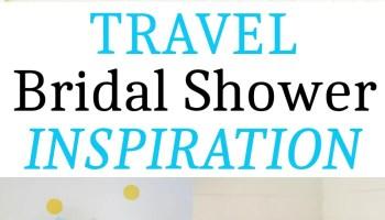 travel bridal shower inspiration