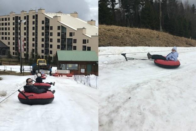 Snow tubing. A Winter Bachelorette Weekend in Snowshoe, West Virginia | Ultimate Bridesmaid