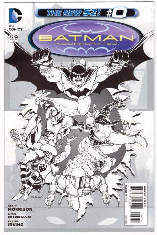 Batman Incorporated #0 1:100 Chris Burnham Sketch Variant New 52 2012 VF/NM