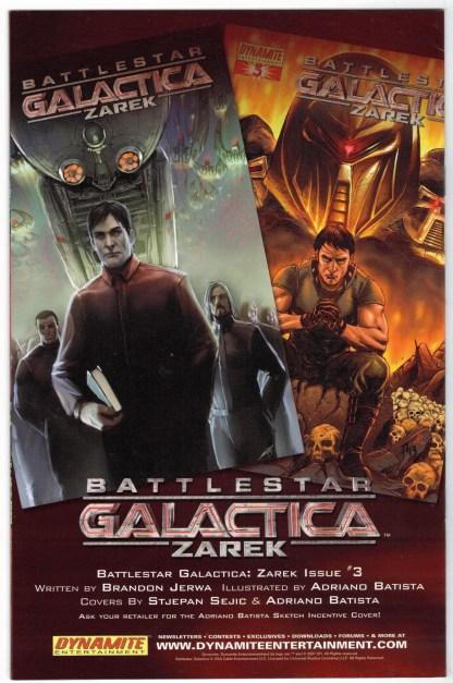 Battlestar Galactica Zarek #2 Batista Retailer Sketch Variant 2006 VF/NM