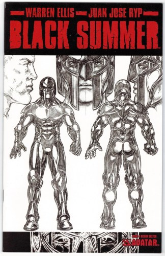Black Summer #4 Design Sketch Variant Avatar 2007 Ellis Ryp VF/NM