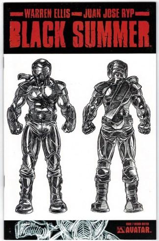 Black Summer #7 Design Sketch Variant Avatar 2007 Ellis Ryp VF/NM