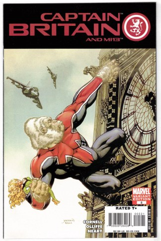Captain Britain and MI13 #5 David Yardin Monkey Variant Marvel 2008 VF/NM