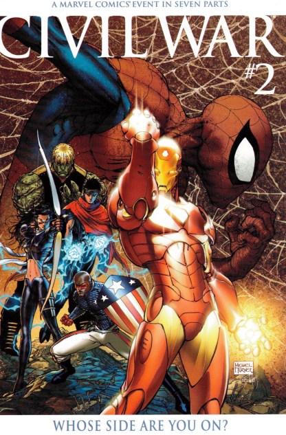 Civil War #2 1:20 Michael Turner Color Variant Marvel Comics Mark Millar