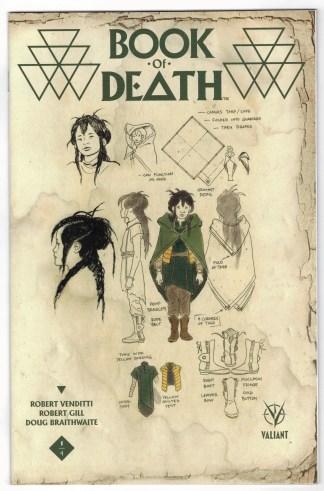 Book of Death #1 1:10 Paolo Perez Design Variant Valiant 2015 VF/NM