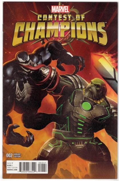Contest of Champions #2 1:10 Game Variant Marvel 2015 Venom VF/NM