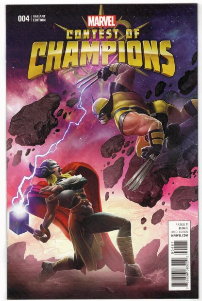 Contest of Champions #4 1:10 Game Variant Marvel 2015 Thor Wolverine VF/NM