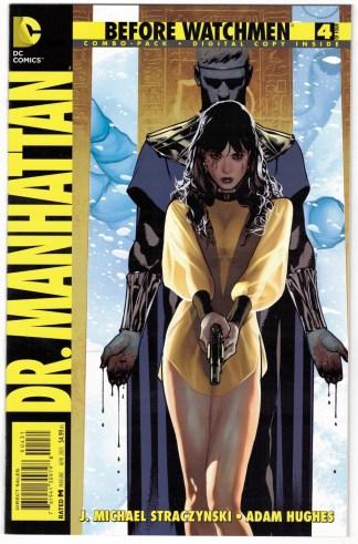 Before Watchmen Dr Manhattan #4 Adam Hughes Combo Pack UNBAGGED DC 2012 VF/NM