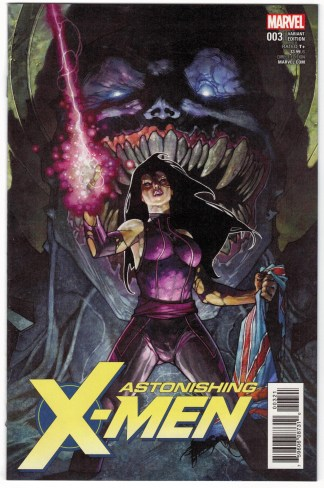 Astonishing X-Men #3 1:50 Simone Bianchi Variant Psylocke 2017 VF/NM