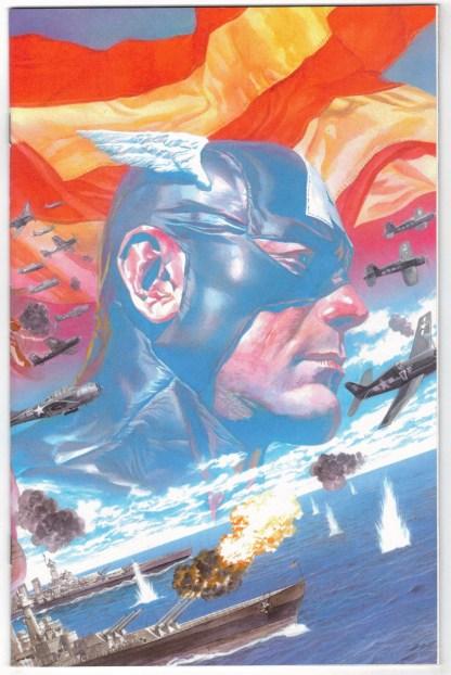 Captain America #1 1:100 Alex Ross Virgin Variant Marvel 2018 Coates VF/NM