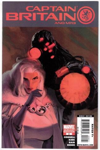 Captain Britain and MI13 #8 Humberto Ramos Villain Variant Marvel 2008 VF/NM