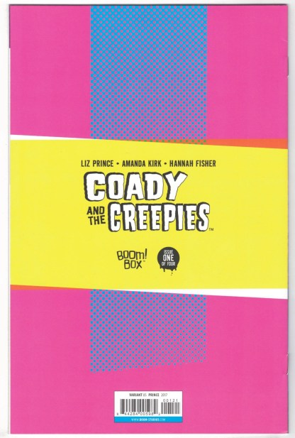 Coady and the Creepies #1 1:10 Liz Prince Virgin Variant Boom 2017 VF/NM