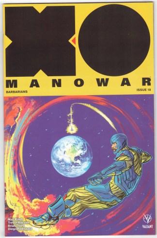 X-O Manowar #18 1:20 Fish Interlocking Variant Valiant 2017 Matt Kindt VF/NM