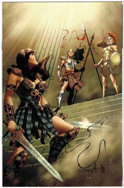 Xena Warrior Princess #10 1:10 Davila Virgin Variant Dynamite 2018 Schultz VF/NM