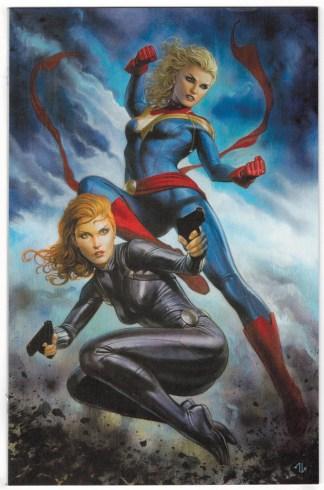 Captain Marvel #6 1:100 Granov Virgin Variant Marvel 2019 Black Widow VF/NM